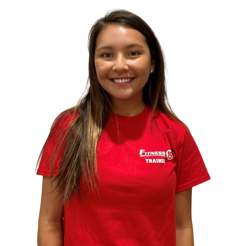 Kayla Thomas is a personal trainer at Fitness 19 Midland Park New Jersey