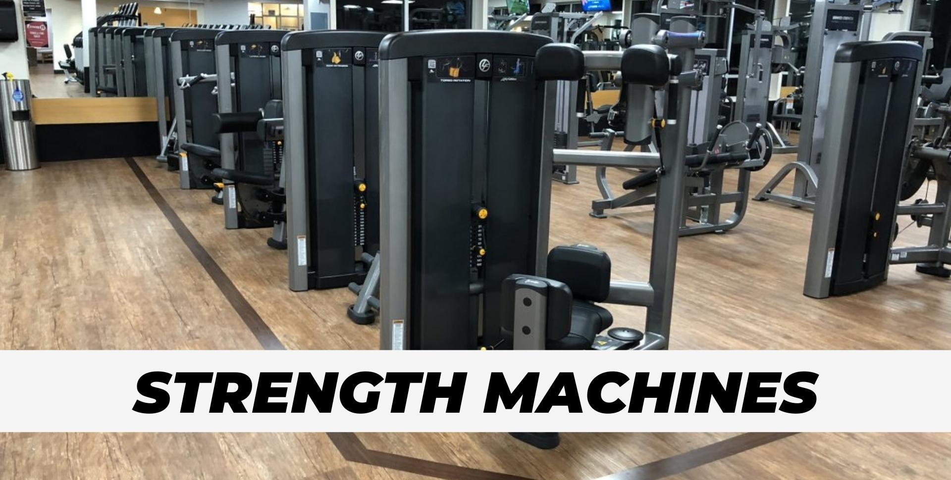 Strength Machines at gym for portfolio pic