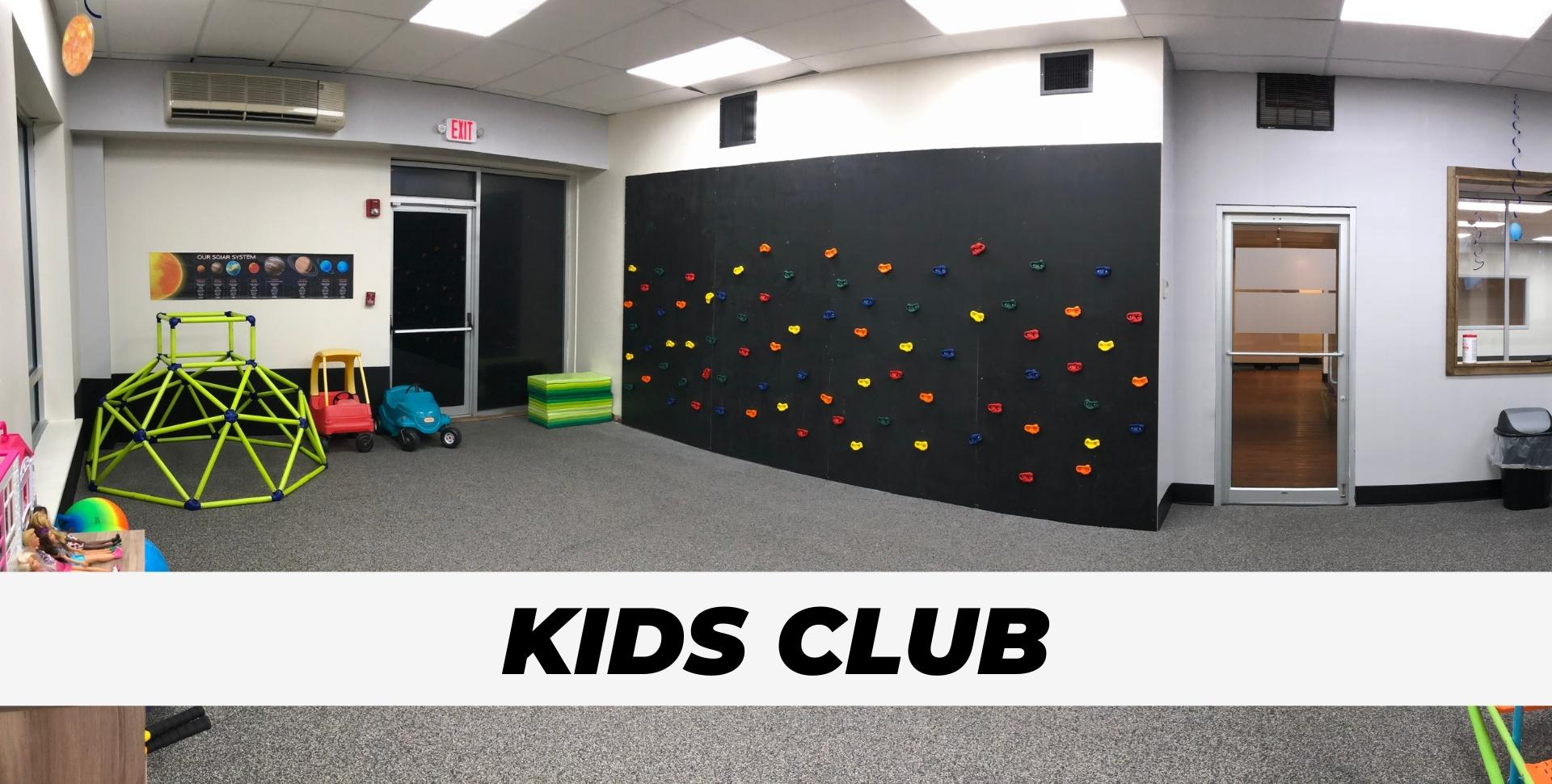 Kids Club day care at gym for portfolio pic